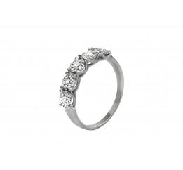 Кольцо серебряное (7290.10к)