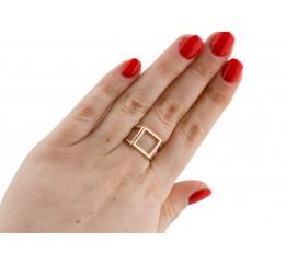 Кольцо серебряное с золотом (0734.10к)