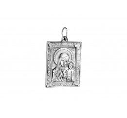 Ладанка серебряная Казанская Божией Матери (0578.10)