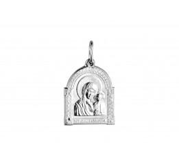 Ладанка серебряная Казанская Божией Матери (7140.10)