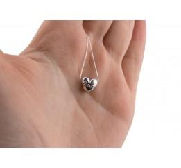 Бусина пандора серебряная Сердечко (0598.10)