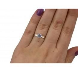 Кольцо серебряное с золотом (0212.10к)