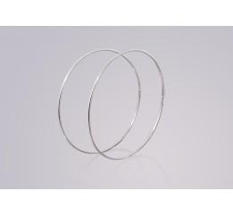 Серьги серебряные Кольца (0426.75)