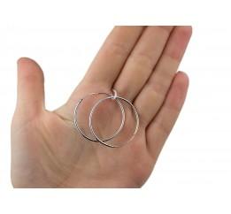 Серьги серебряные Кольца (С040)