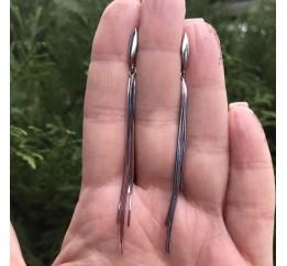 Серьги серебряные висюльки (520270)