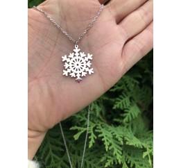 Колье серебряное Снежинка (861730)