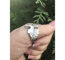 Печатка серебряная с золотом Орёл (809з)