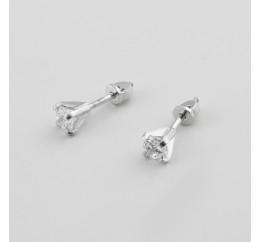 Серьги пусеты-гвоздики серебряные (4795)