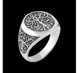 Печатка серебряная Дерево жизни (ВС-104ч)