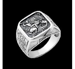 Печатка серебряная Георгий Победоносец (ВС-110)