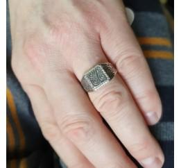 Печатка серебряная Сферы (ЛК-0189ч)