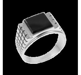 Печатка серебряная с ониксом Тутанхамон (003ч)