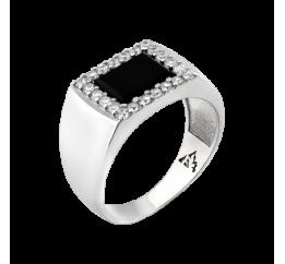 Печатка серебряная с ониксом (663р)