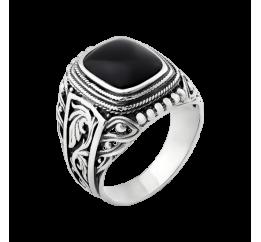Печатка серебряная с ониксом (455ч)
