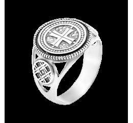 Печатка серебряная Мальтийский крест (Г-3140ч)