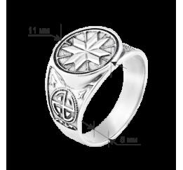 Печатка серебряная Северная звезда (Г-3130ч)