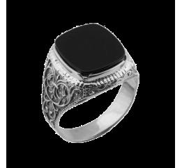 Печатка серебряная с ониксом (612)