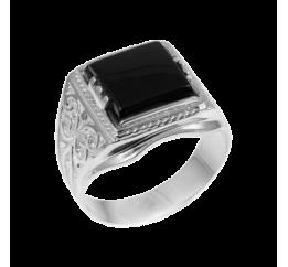 Печатка серебряная с ониксом (171)