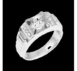 Печатка серебряная с фианитом (122р)