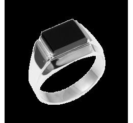 Печатка серебряная с ониксом (009р)