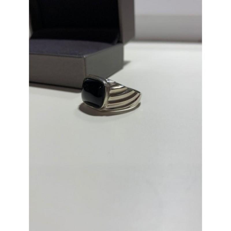 Печатка серебряная с ониксом (520)