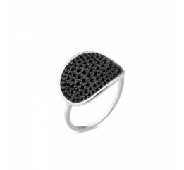 Кольцо серебряное с цирконием (1087к)