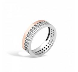Кольцо серебряное с золотом (158к)