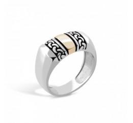 Печатка серебряная с золотом (548з)