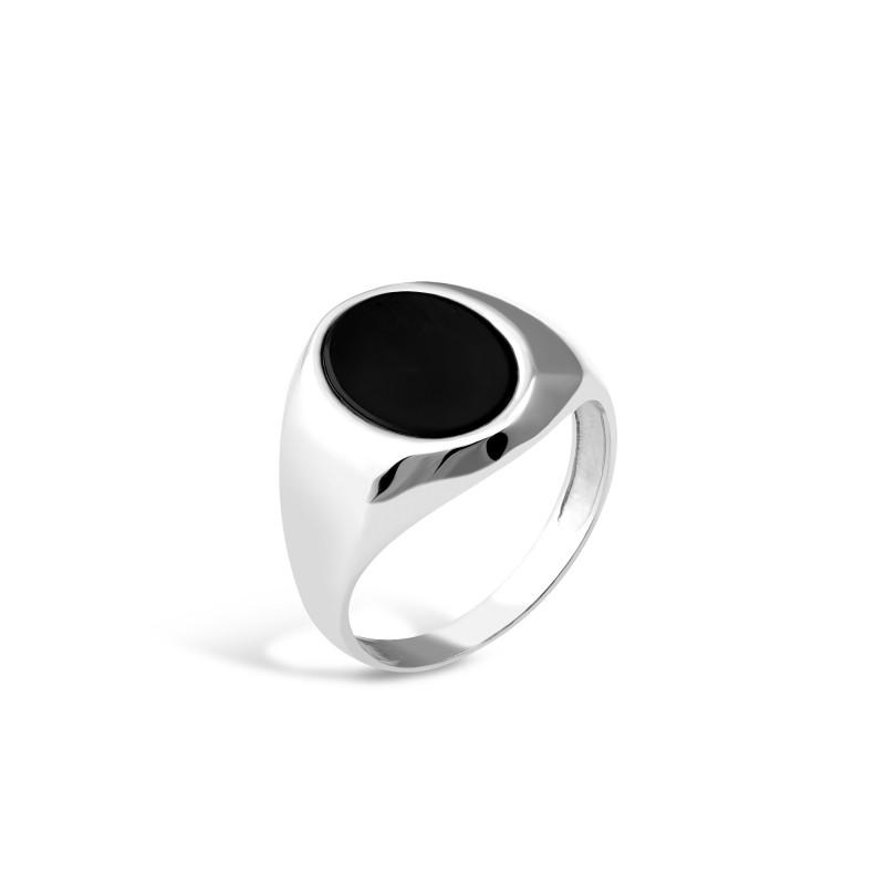 Печатка серебряная с ониксом (635)