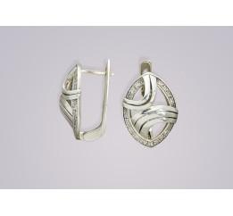 Серьги серебряные Саяны (1111160)