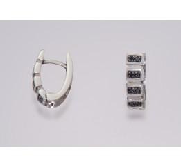 Серьги серебряные с цирконием Степ (2887р)