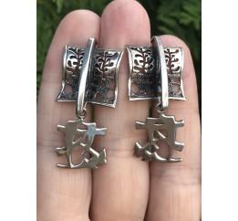 Серьги серебряные Харбин (1100160)
