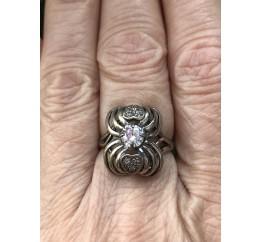 Кольцо серебряное с цирконием Полюс (2111935)