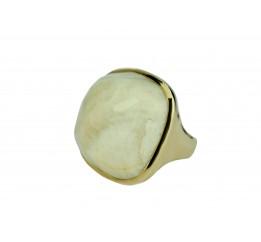 Кольцо серебряное с позолотой и лунным камнем (55 5778)