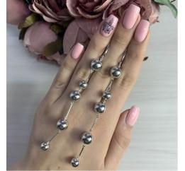 Серебряные серьги SilverBreeze без камней (2006091)
