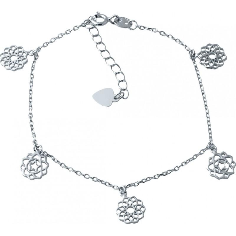 Серебряный браслет на ногу SilverBreeze без камней (1927526) 2326 размер
