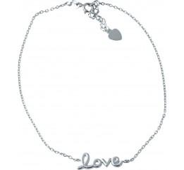 Серебряный браслет на ногу SilverBreeze без камней (1927540) 2326 размер