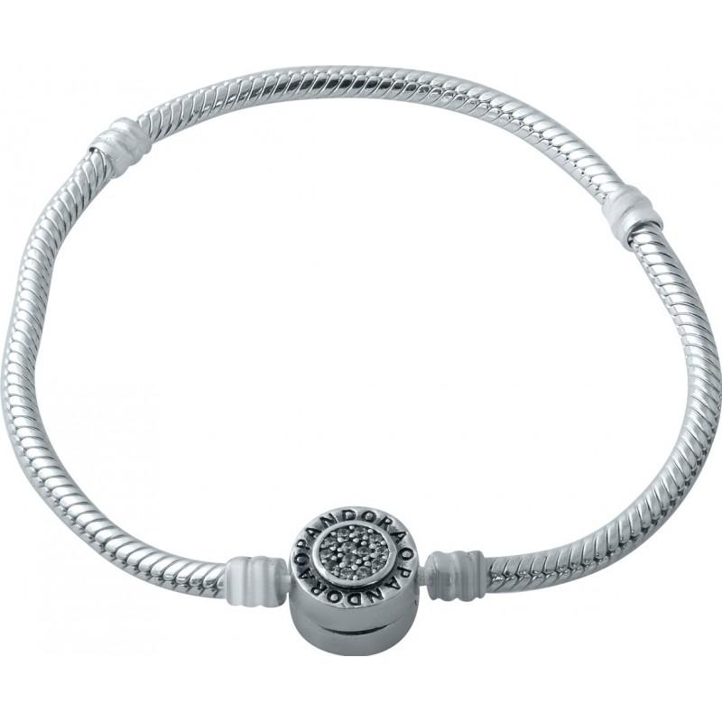 Серебряный браслет SilverBreeze с фианитами (1931073) 19 размер