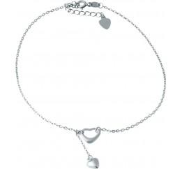 Серебряный браслет на ногу SilverBreeze без камней (1935903) 2326 размер