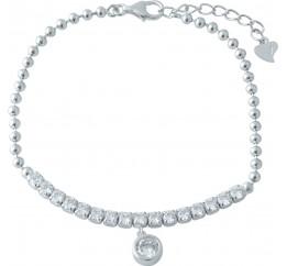 Серебряный браслет SilverBreeze с фианитами (1956083) 1720 размер