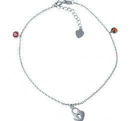 Серебряный браслет на ногу SilverBreeze с фианитами (1927854) 2326 размер
