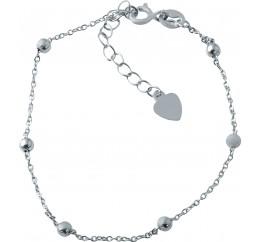 Серебряный браслет на ногу SilverBreeze без камней (1928165) 2326 размер