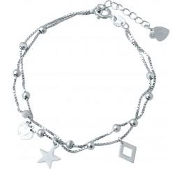 Серебряный браслет SilverBreeze без камней (1935842) 1720 размер
