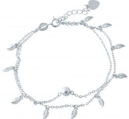 Серебряный браслет на ногу SilverBreeze без камней (1952900) 2326 размер