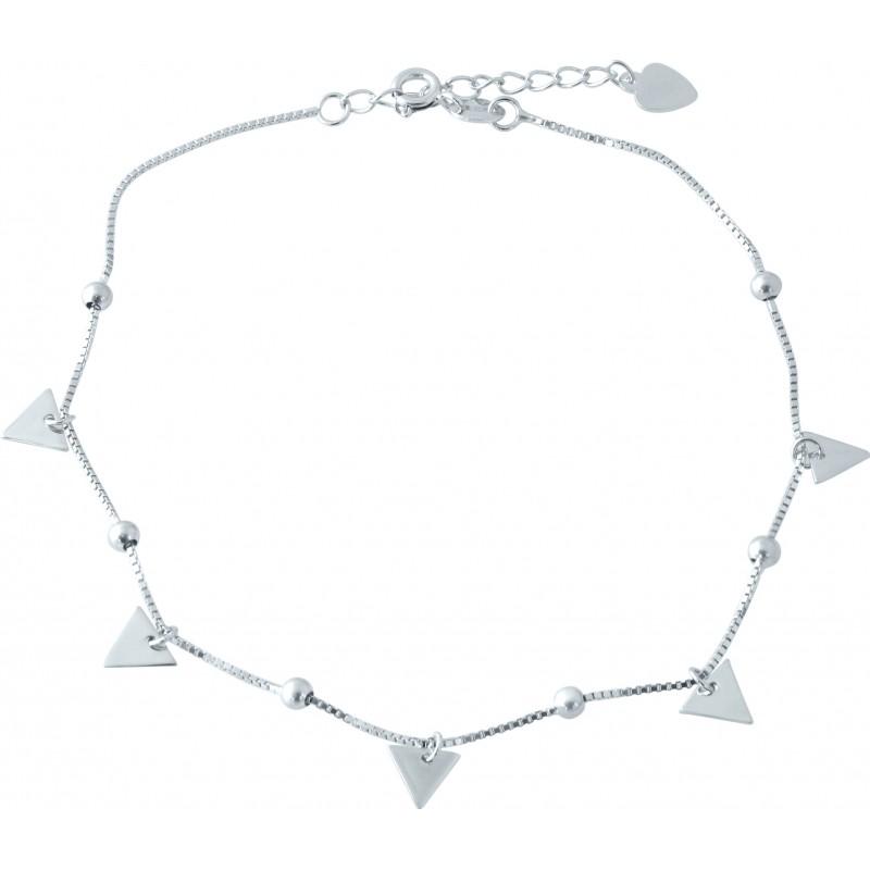 Серебряный браслет на ногу SilverBreeze без камней (1952917) 2326 размер