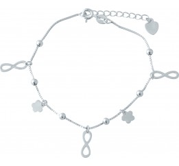 Серебряный браслет на ногу SilverBreeze без камней (1952993) 2326 размер