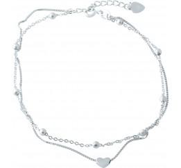 Серебряный браслет на ногу SilverBreeze без камней (1953013) 2326 размер