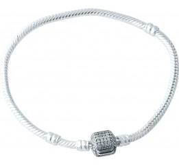 Серебряный браслет SilverBreeze с фианитами (1966808) 19 размер