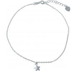 Серебряный браслет на ногу SilverBreeze без камней (1981689) 2326 размер