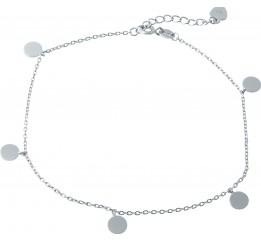 Серебряный браслет на ногу SilverBreeze без камней (1982167) 2326 размер
